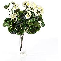 Faux Géranium MERLE à piquer, blanc, 45 cm, Ø 25 cm - Plante fleurie artificielle / Fleur artificielle balcon - artplants