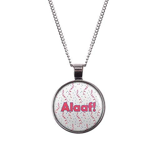t Motiv Alaaf Karneval Pink Blau Weiß Konfetti silber 28mm ()