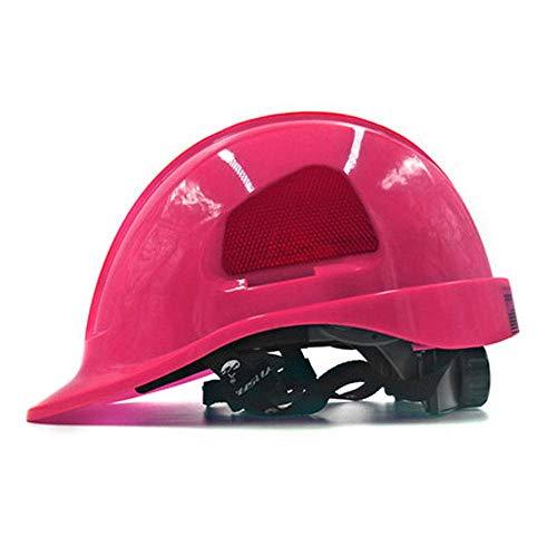 HU Isolierte flammhemmende Helm Baustelle Blaulicht Anti-Kollision Atmungsaktiv Elektriker Arbeit Versicherung Helm (Color : Pink) (Ski-helme Brennen)