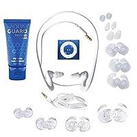 (Blue) - Underwater Audio- Waterproof iPod Shuffle, HydroActive Headphone Bundle (Royal Blue)