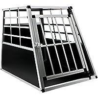 MCTECH Hundetransportbox Hundebox Autotransportbox Alubox Reisebox Gitterbox Hundekäfig (Single Groß)