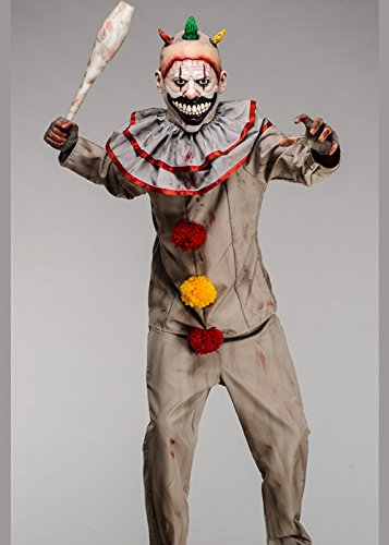 Clown Deluxe Kostüme (American Horror Story Twisty Das Clown Kostüm mit Deluxe Maske Small (34-36