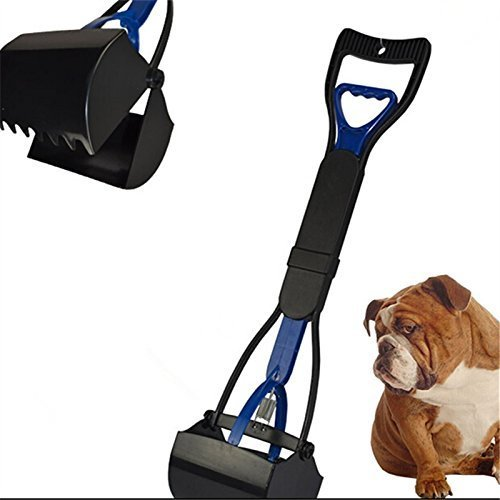 cofco Hund Pet Kiefer Poop Scoop reinigen Pick Up Ablaufgarnitur 24 blau Farbe -
