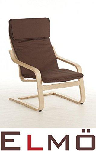 Hochwertiger Schwingsessel Freischwinger Relaxsessel Sessel cappuccino 11012