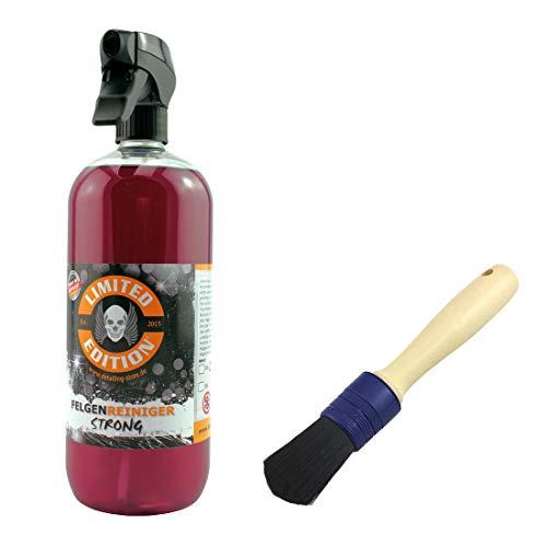 Limited Edition® - Felgen Set - 1 Liter - Felgenreiniger mit Wirkindikator + Felgen Pinsel - Effektive Reinigung von starken Verschmutzungen auf Leichtmetallfelgen, Chrome & Stahlfelgen
