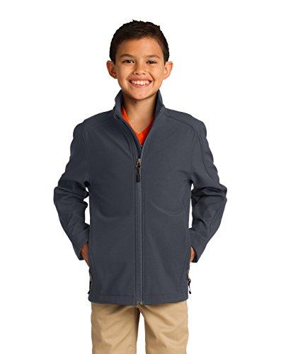Port Authority® Youth Core Soft Shell Jacket. Y317 Battleship Grey XS