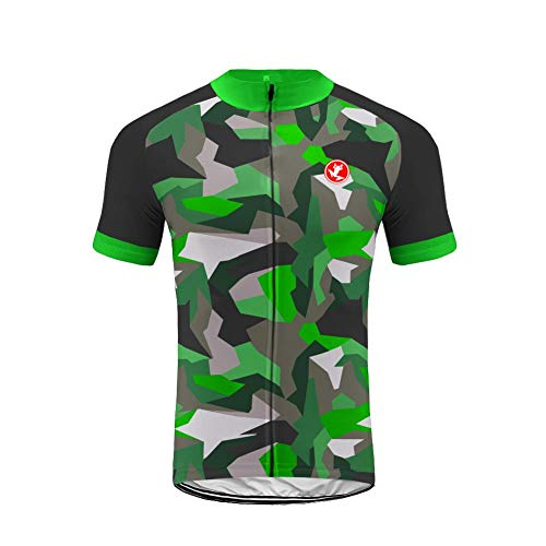 YZ Trading Uglyfrog Men Short Sleeve Cycling Gel Pad Bid Jersey