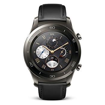 Huawei Watch 2 Classic - Montre GPS sport connectée - Smartwatch pour Android et iOS - Noir