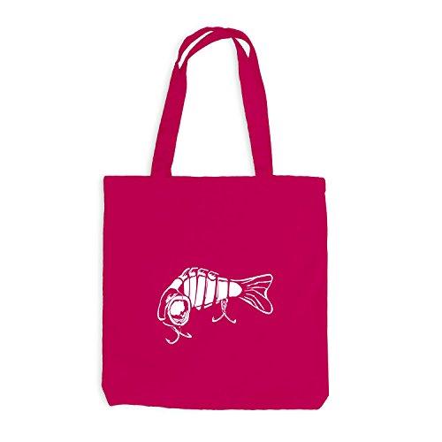 Jutebeutel - Cattura Un Pesce Angelo In Stile Pesca Rosa