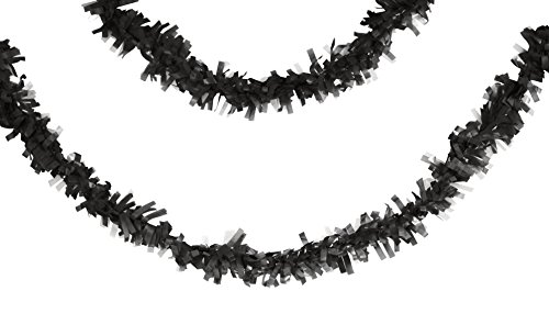 Creative Converting Tissue Garland 25' Black velvet