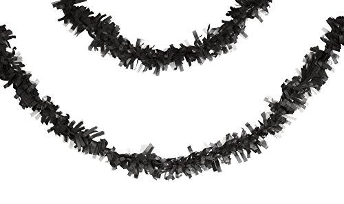Creative Converting Tissue Garland 25' Black ()