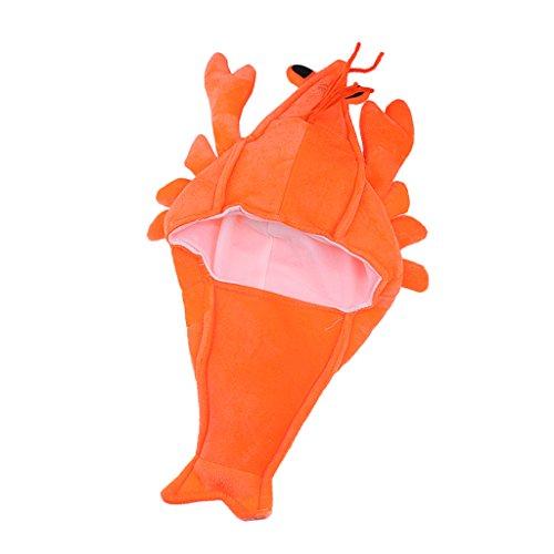 Kinder Kostüm Garnelen - MagiDeal Hummer Hut Lobster Shrimp Mütze für Kostüm Karneval Halloween Fasching