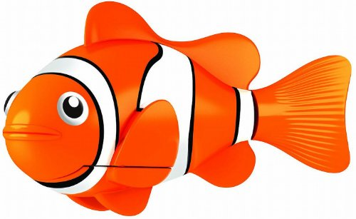 isch Clownfisch Orange |  Lebensechte Bewegungen, Auf- und Abtauchen | Wasserspaß für Kinder | elektronisches Wasser-Spielzeug (Roboter-fisch)