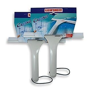 2 X Leifheit 41650 Duschkabinenreiniger Cabino weiß