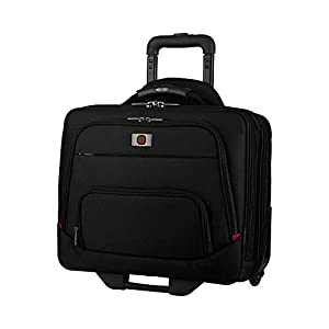 """Wenger 605978 SPHERIA 16"""" Wheeled Laptop Case, Smooth Glide 2.5-inch wheels with an Overnight Compartment in Black"""