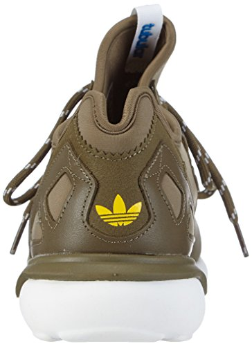 adidas Tubular Runner, Sneaker A Collo Alto da Uomo Verde (dark cargo f14-st/dark cargo f14-st/bold gold)