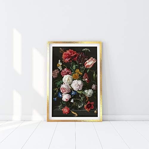 Romantische nordische abstrakte Hortensie Leinwand Kunstdruck Malerei Moderne Zimmer dekorative Wandkunst Bild Poster und Drucke (kein Rahmen) A2 60x80CM