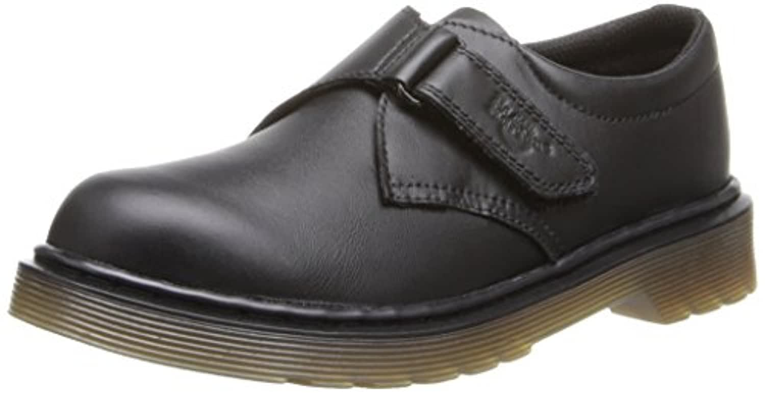 Dr Martens - Jerry Velcro Shoes, Black, 1 UK Youth