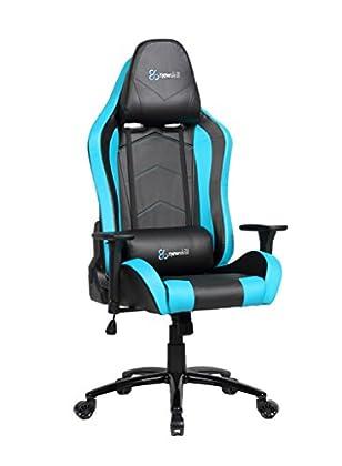 Newskill Takamikura - Silla gaming profesional (inclinación y altura regulable, reposabrazos ajustables, reclinable 180º), Color Azul [España]