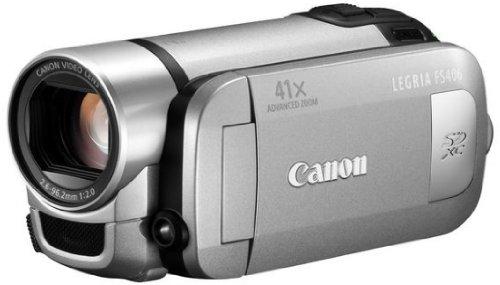 Canon LEGRIA FS 406 SD-Camcorder (SDXC/SDHC/SD-Slot, 37-fach optischer Zoom, 6,7 cm (2,7 Zoll) Display, bildstabilisiert) silber