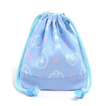 Sac de cordon Gokigen d?jeuner (de petite taille) tasse gousset ballerine dans le miroir (bleu clair) x Ox saxo fait au Japon N3571400 (japon importation)
