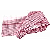 Wonderdry Tea Towels - Red. 95% cotton 5% polyester. Quantity: 10.