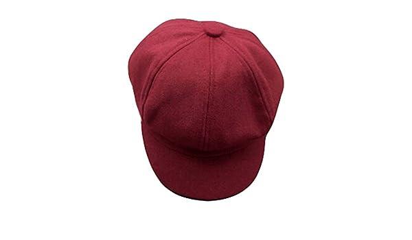 Trendy Design Baumwoll flache Kappe Weibliche M/ädchen elegant Stoffhut