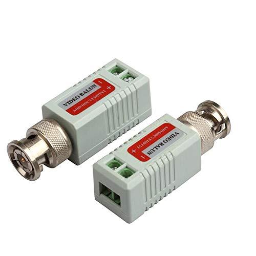Pudincoco Gemeinsame Anti-Interferenz Single 1 Kanal Passive Video Transceiver BNC Koaxial Adapter Für Balun CCTV Kamera DVR BNC UTP (schwarz)