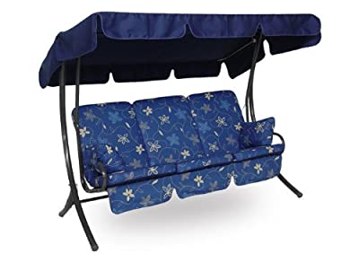 Angerer Hawaii Hollywoodschaukel Korfu, Blau, 3-Sitzer