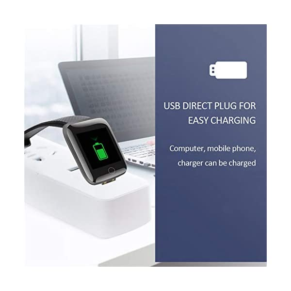 Smart Fitness Tracker Watch, IP67 Impermeable Reloj Inteligente con Contador de Pasos Monitor de sueño, podómetro Reloj para Hombres Mujeres niños 7