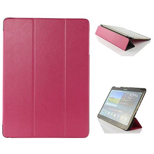 Urcover® Schutzhülle kompatibel mit Samsung Galaxy Tab S 10.5 Smart Cover Case in Pink [ mit Standfunktion & Sleep Wake ] Etui Schale