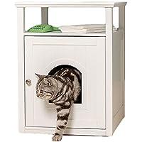 Lords & Labradors - Arenero de madera para gatos y bandeja de palisandro, color blanco