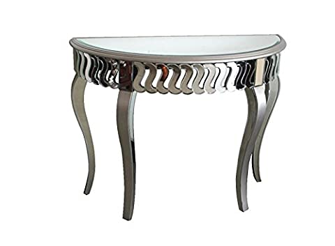 Mirrored Half Moon Hall Console Table