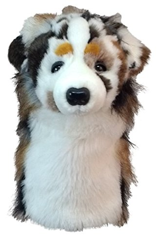 DAPHNE NOVELTY GOLF DRIVER HEADCOVER. AUSTRALIAN SHEPHERD DOG.