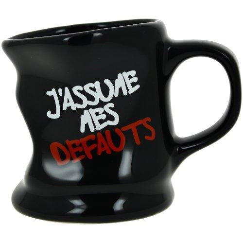 Promobo -Mug Tasse à Café Froissé Design Fun Mot J'assume Noir