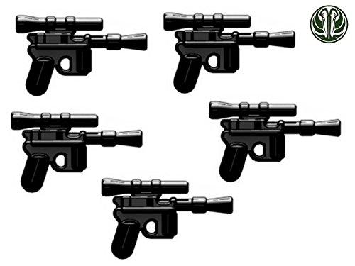 5x DL-44 Blaster Pistole custom Waffen für Lego Star Wars Figuren - Star Wars Lego Custom