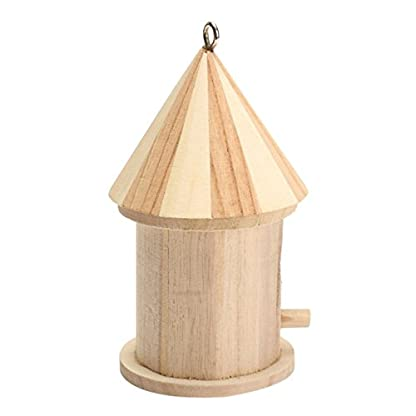 Dreammy New Wooden Bird House Birdhouse Hanging Nesting Box Hook Home Garden Decor 3