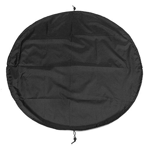 Descripción:      bolsa multifuncional diseñado para facilitar el cambio de la ropa húmeda y seca.   Abra la bolsa y tiene un gran 90 cm / 35,4 pulgadas de diámetro el cambio de alfombra.   Retire sus ropas, fangosos húmedas y tirar del cordó...
