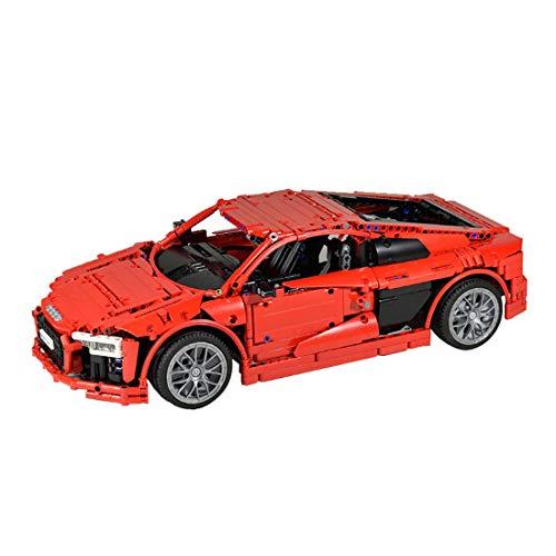 GODNECE Baustein Auto Ferngesteuert, 1839 Stück MOC Bausteine Ferngesteuertes Auto Bausatz Sportwagen Fahrzeugmodell Mit Fernbedienung und Motor bedienen.
