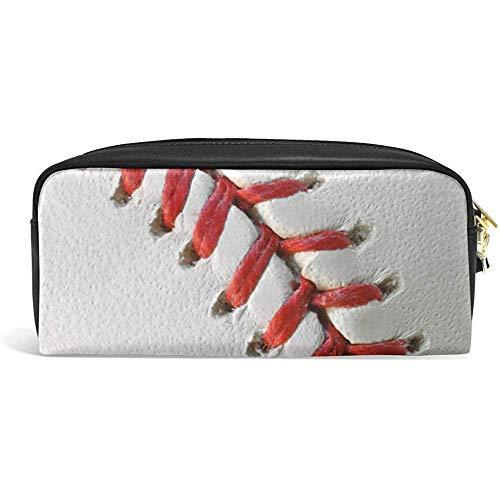 G.H.Y Niedlichen Federmäppchen Baseball Kugelschreiber Sport Ball Fällen Veranstalter pu Leder Make-up Tasche