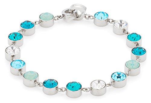Leonardo Jewels Damen Armband Oceano Edelstahl Glas mehrfarbig 18.5 cm   016227