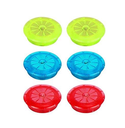 Betuy LED Fahrrad Rad Lichter, Wasserdicht/Stoßfest Coole Bunte Dekorationslichter/LED Mini Sprachlichter - 6 Stück