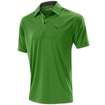 2014 Mizuno DryLite Flat Knit Laser Mens Golf Polo Shirt Green Small