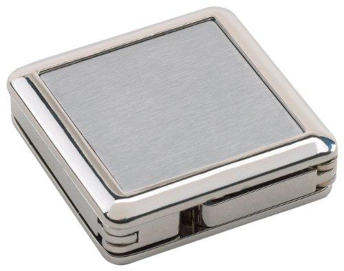 Wedo 2055654 Taschenhaken Montreux (eckig 4 x 4 x 1,1 cm, Material: Zinklegierung) silber