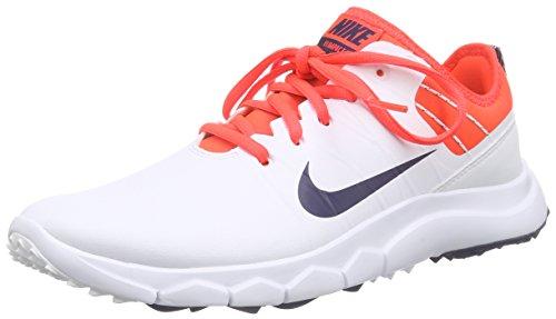 Nike Damen FI Impact 2 Golfschuhe, Weiß (White/Midnight Navy/Bright Crimson/University Red 102), 38 EU