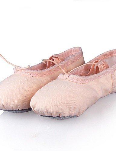 Moderne Mode Sandalen nicht anpassbare Kids Dance Schuhe Leinwand Ballerinas flachem Absatz Praxis/Performance Rosa/Andere Pink