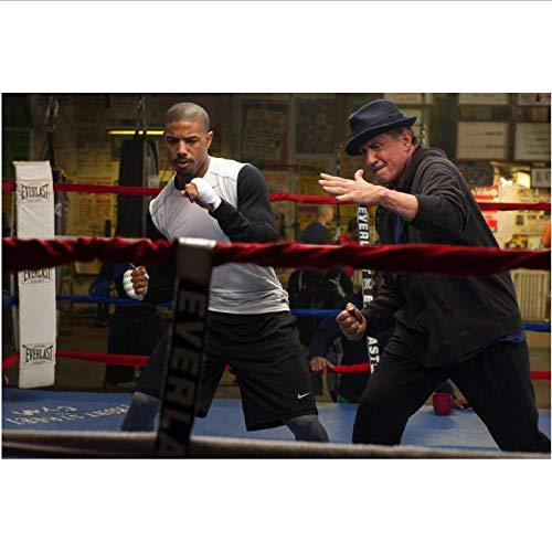 yhnjikl Sylvester Stallone Und Michael B Jordanien Rocky Apollo Creed Movie Poster Stoff Silk Poster Und Drucke Für Heimtextilien 40X60 cm Ohne Rahmen