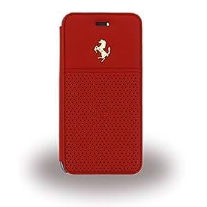 Ferrari GT Berlinetta Etui folio pour iPhone 6/6S Motif Le Logo d'Or Rouge