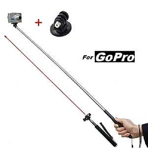 Perche Monopod télescopique avec bras extensible 1M, dragonne, pour caméra gopro et appareil photo numérique - Expédition Express depuis la France - Adaptateur Gopro OFFERT - Compatible avec toutes les caméras Gopro - WINUP®