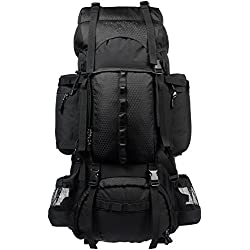 AmazonBasics ZH1704013 Internal Frame Hiking Backpack with Rainfly, 75Liters (Black)